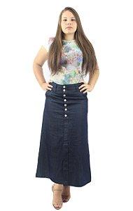 Saia Longa Jeans Detalhe Botões Ref.015