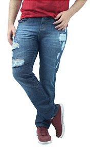 Calça Masculina Jeans 100% Algodão Detonada Ref.6005
