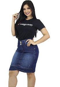 Saia Jeans Barra Transpassada Ref.161