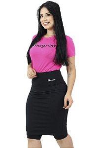 Saia Fitness Evangélica Short Interno Preta Anagrom Ref.6001