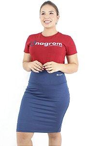 Saia Fitness Evangélica Short Interno Azul Anagrom Ref.6004