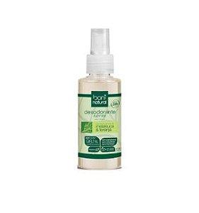 Desodorante Spray Boni Natural, Vegano, Melaleuca & Toranja, 98,10% Vegetal & Mineral, 120ml sem triclosan, sem parabeno, sem cloridrato