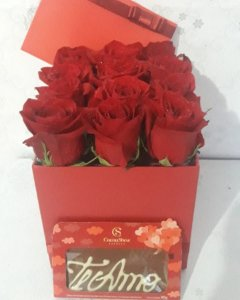 Box Rosas Eu te Amo