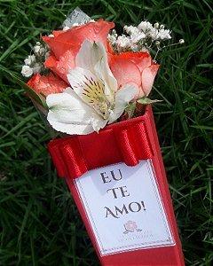 Cone de Flor Eu te Amo