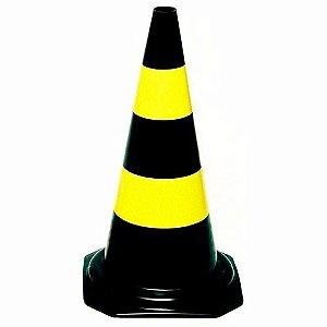Conê Segurança Preto e Amarelo 50cm