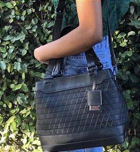 Bolsa Feminina Gabi grande Preta com duas alças