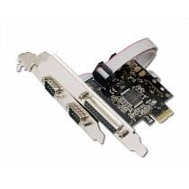 Placa Pci Express 2 Serial Rs232 Db9 1 Paralela