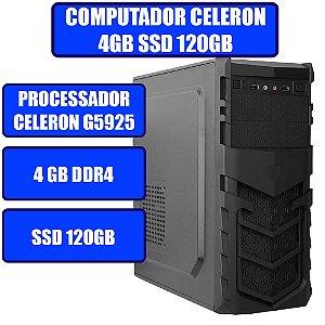 COMPUTADOR GENIOS HOME-OFFICE CELERON, 4GB, SSD 120GB E WINDOWS 10