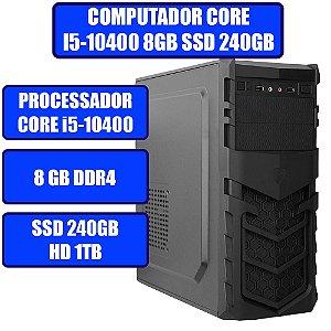 COMPUTADOR GENIOS HOME-OFFICE CORE i5-10400, 8GB, SSD 240GB, HD 1TB E WINDOWS 10