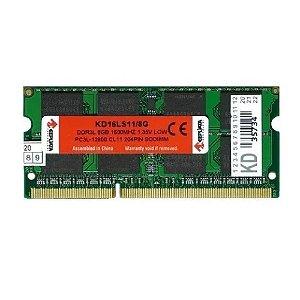 MEMORIA NOTEBOOK KEEPDATA 8GB (1X8) DDR3L 1600MHZ KD16LS11/8G