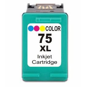 Cartucho de Tinta Compatível HP 75XL Colorido CB338WB C4480 C4280
