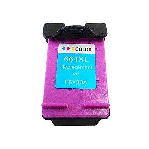 Cartucho Tinta Compatível HP 664XL Colorido F6V30A 2136 3636 3836 4536