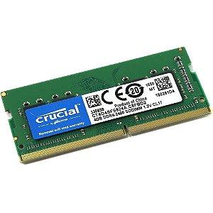 Memória Notebook DDR4 4GB Crucial 2400MHZ