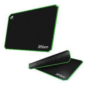 Mouse Pad Gamer Fortrek Speed 440X350mm Verde Bordas Nylon MPG101