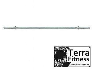 Barra maciça cromada 150cm roscada - Terra Fitness