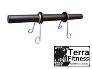 Barra oca 40cm preta + 2 presilhas - Terra Fitness