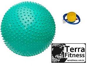 Bola Suiça Cravo 65cm Fitball para 250kg + bomba de inflar - Terra Fitness