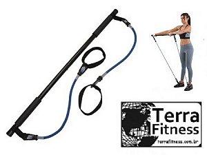 Extensor Barra Funcional + Elásticos - Terra Fitness