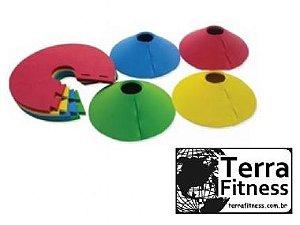 """Marcador de treinamento em eva """"Half Cone"""" - Terra Fitness"""