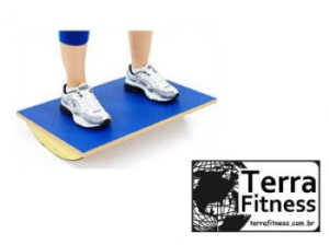Plataforma de equilíbrio retangular em Madeira - Terra Fitness