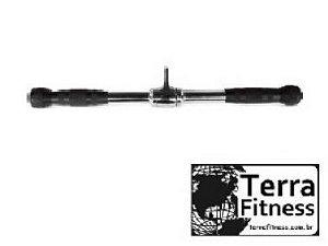 Puxador Pulley reto 51cm maciço cromado - Terra Fitness