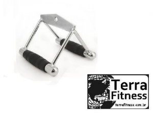 Puxador triceps triangulo cromado - Terra Fitness
