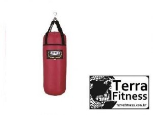 Saco de pancadas Vermelho 60cmX Ø26CM 10kg - Terra Fitness