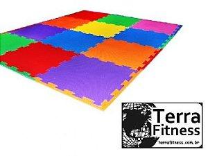 Tatame eva piso de borracha 50cmX50cmX10mm - Terra Fitness