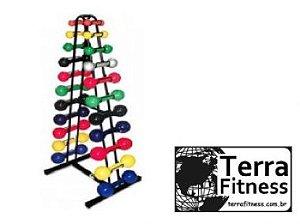 Suporte expositor 22 halteres - Terra Fitness