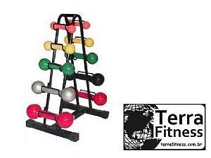 Suporte expositor 10 halteres - Terra Fitness