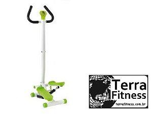 Stepper com haste de apoio - Simulador de caminhada - Terra Fitness