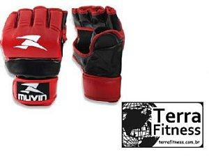 Luva MMA Vermelha - P/M - Terra Fitness