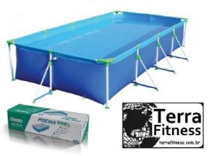 Piscina premiun 5000 Litros - 325cm X 206cm X 75cm - Terra Fitness