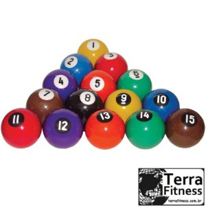 Bola Bilhar NUMERADA - Terra Fitness