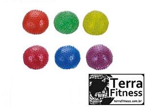 Bola em gel anti-stress para mãos e pés Ø 6cm - Terra Fitness