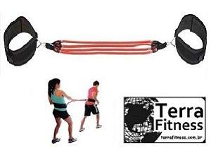 Cinto de tração Duplo com 4 elásticos - Terra Fitness