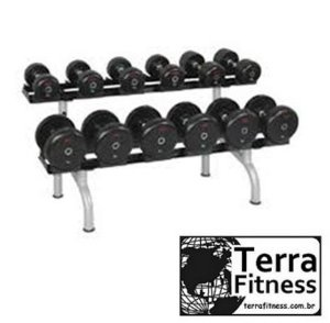 Suporte expositor 2 andares para 12 Dumbell - Terra Fitness