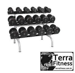 Suporte expositor 3 andares para 18 Dumbell - Terra Fitness