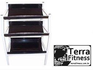 Suporte expositor para caneleiras 3 andares - Terra Fitness