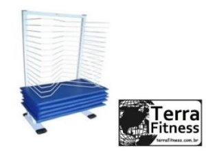 Suporte expositor para 10 Colchonetes - Terra Fitness