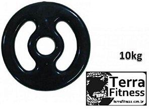 Anilha emborrachada com pegada .... 10kg - Terra Fitness