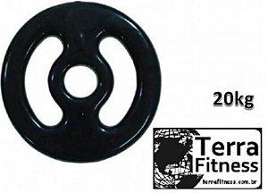Anilha emborrachada com pegada 20 kg - Terra Fitness