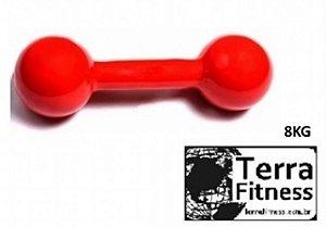 Halter emborrachado...   8kg- Terra Fitness
