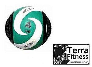 Medicine Ball 4kg com pegada tipo alça - Terra Fitness