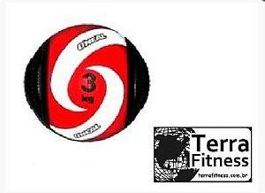 Medicine Ball 3kg com pegada tipo alça - Terra Fitness