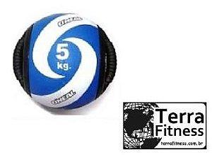 Medicine Ball 5kg com pegada tipo alça - Terra Fitness