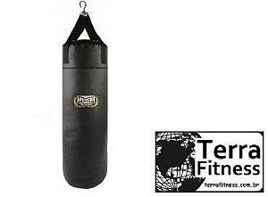 Saco de pancada 90cmXØ28cm / 25kg Preto - Terra Fitness