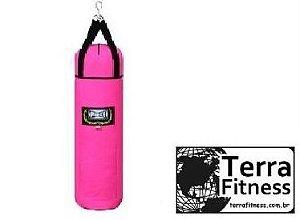 Saco de pancada rosa 90cmXØ28cm / 25kg - Terra Fitness