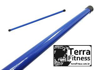 Bastão madeira Revestido 100cmX23mm  sem carga + ponteira - Terra Fitness