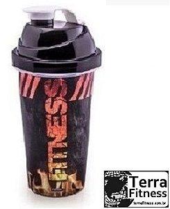 Shakeira 580ml Preta- Terra Fitness